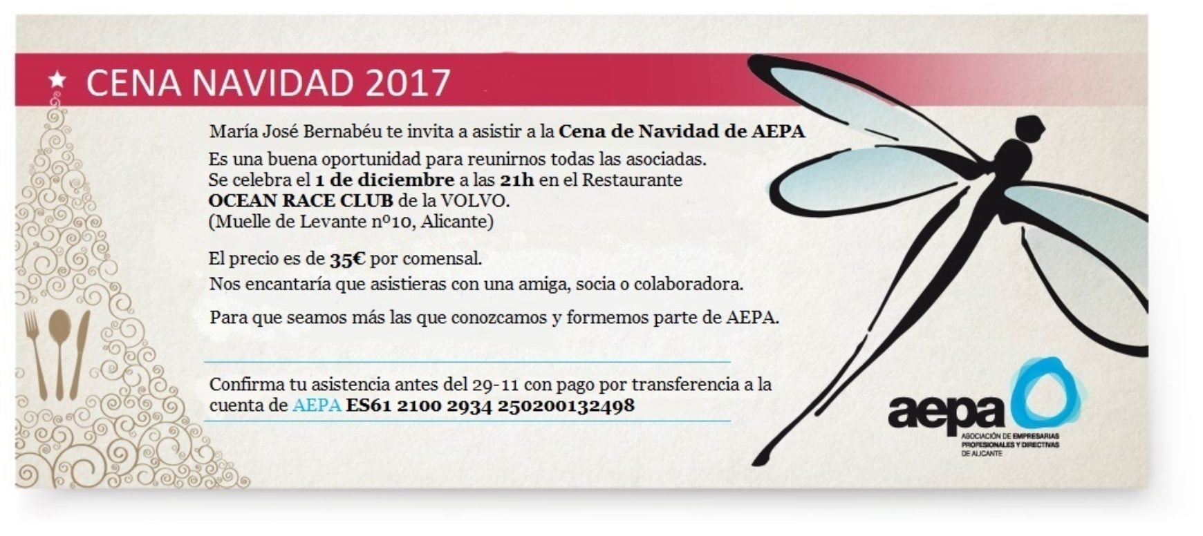 CENA NAVIDAD AEPA 2017