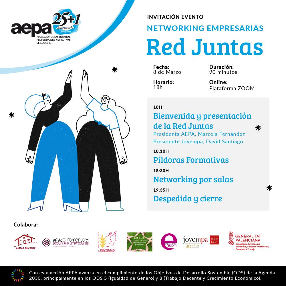 AEPA celebra el 8 de marzo con la firma de un convenio histórico y un networking
