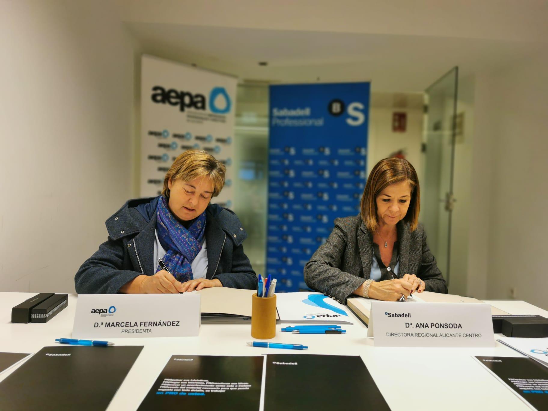 Información financiera servicios Banco de Sabadell para asociadas AEPA