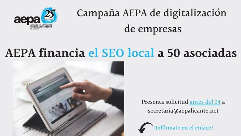 Campaña AEPA digitalización de empresas y profesionales asociadas