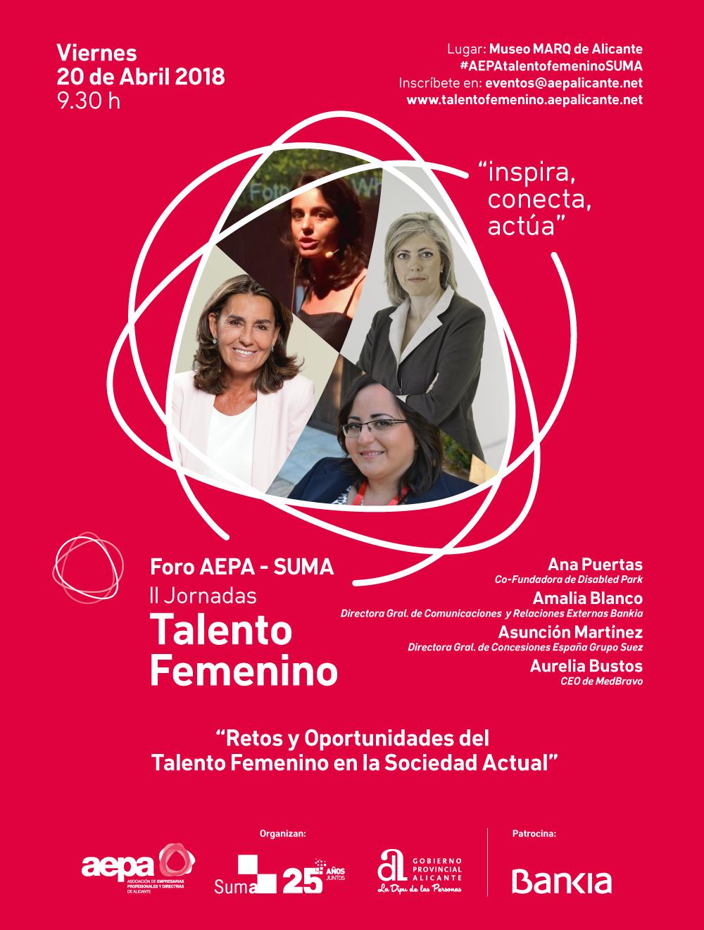 """Foro AEPA-SUMA: """"Retos y Oportunidades sobre el Talento Femenino en la Sociedad Actual"""""""