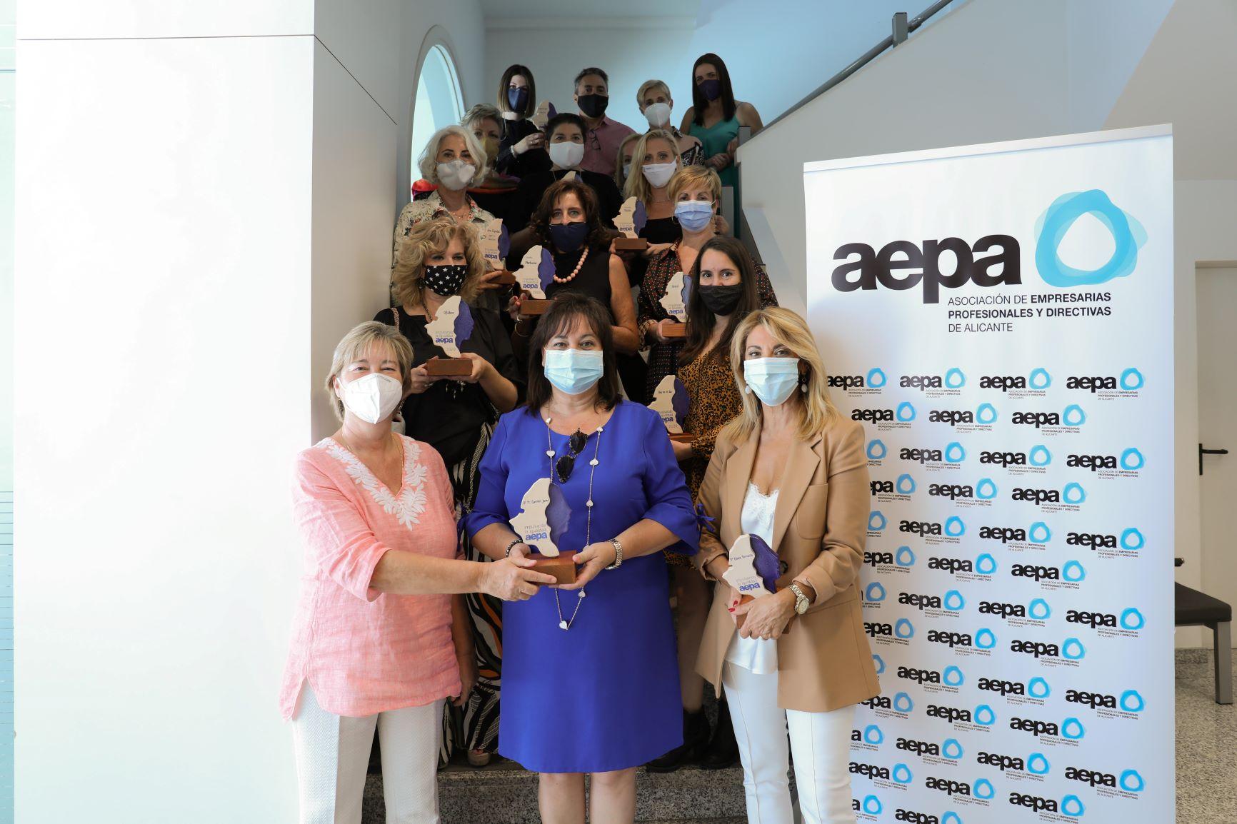 Acto de entrega de distinción a empresas por la concesión del Sello de Igualdad de AEPA.