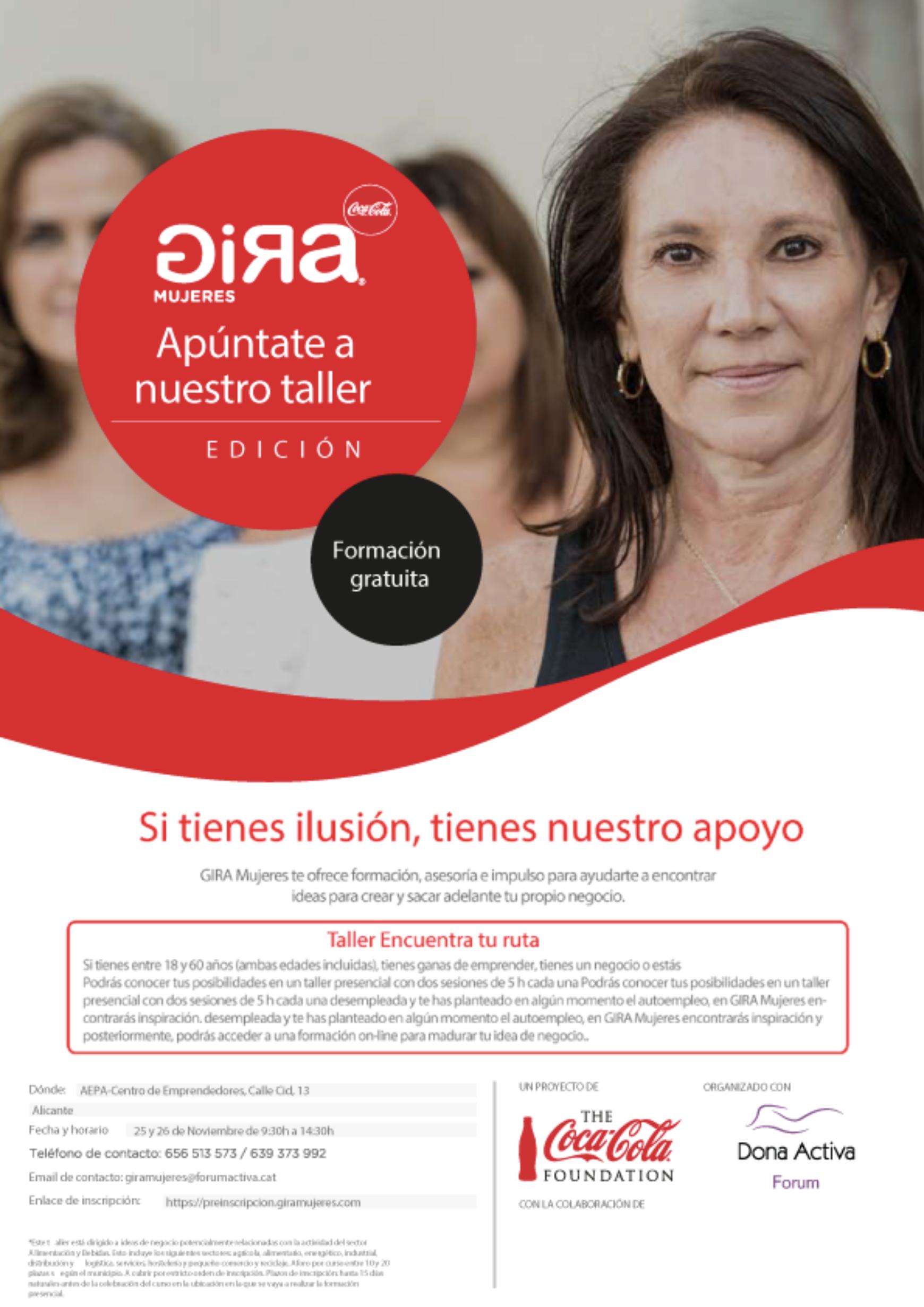 Taller de emprendimiento para mujeres en Alicante