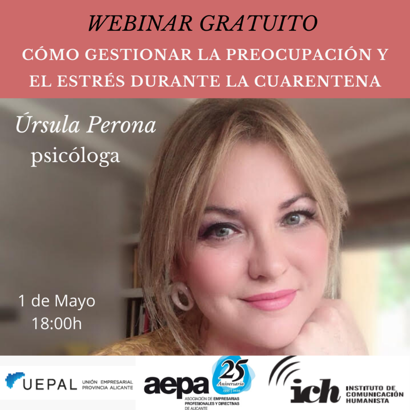 AEPA organiza un nuevo webinar con Úrsula Perona.