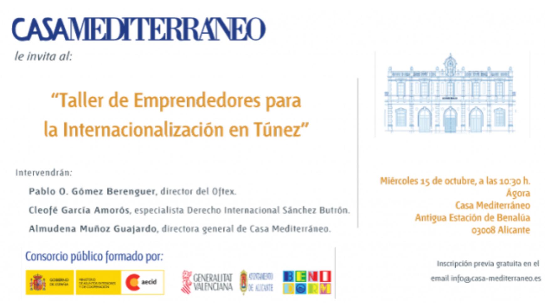 CASA MEDITERRANEO: taller emprendedores para la internacionalización en Túnez