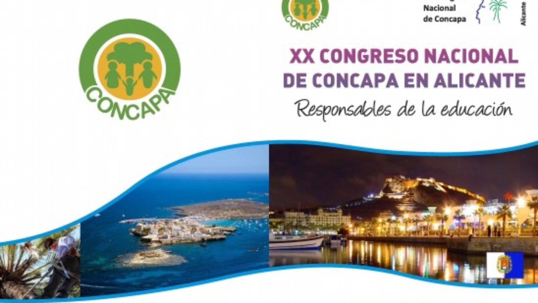XX CONGRESO NACIONAL DE CONCAPA EN ALICANTE: RESPONSABLES DE LA EDUCACIÓN