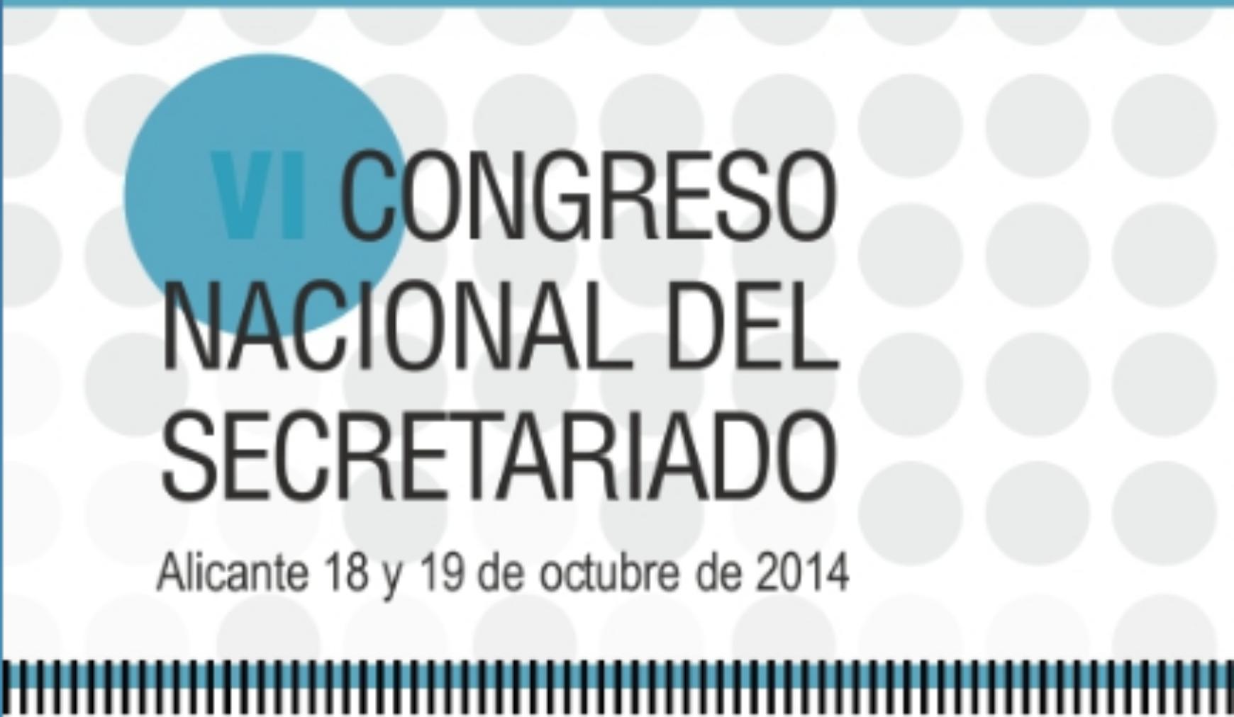 VI Congreso Nacional del Secretariado, se celebrará los días 18 y 19 de octubre, en Alicante.