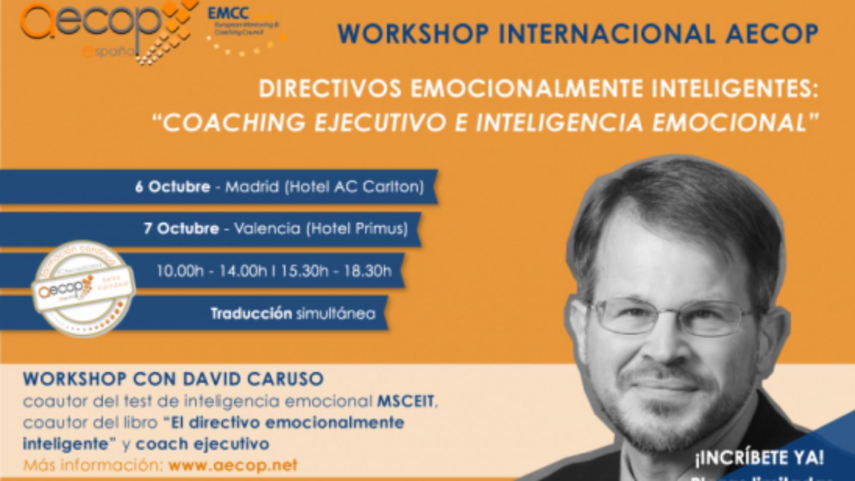 Workshop con David Caruso en Valencia el 7 de Octubre organizado por Aecop
