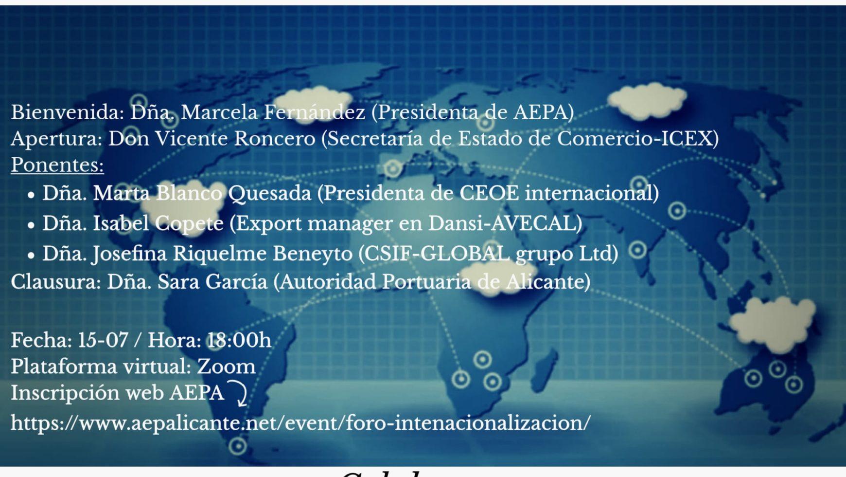 Foro sobre internacionalización empresas y mujeres